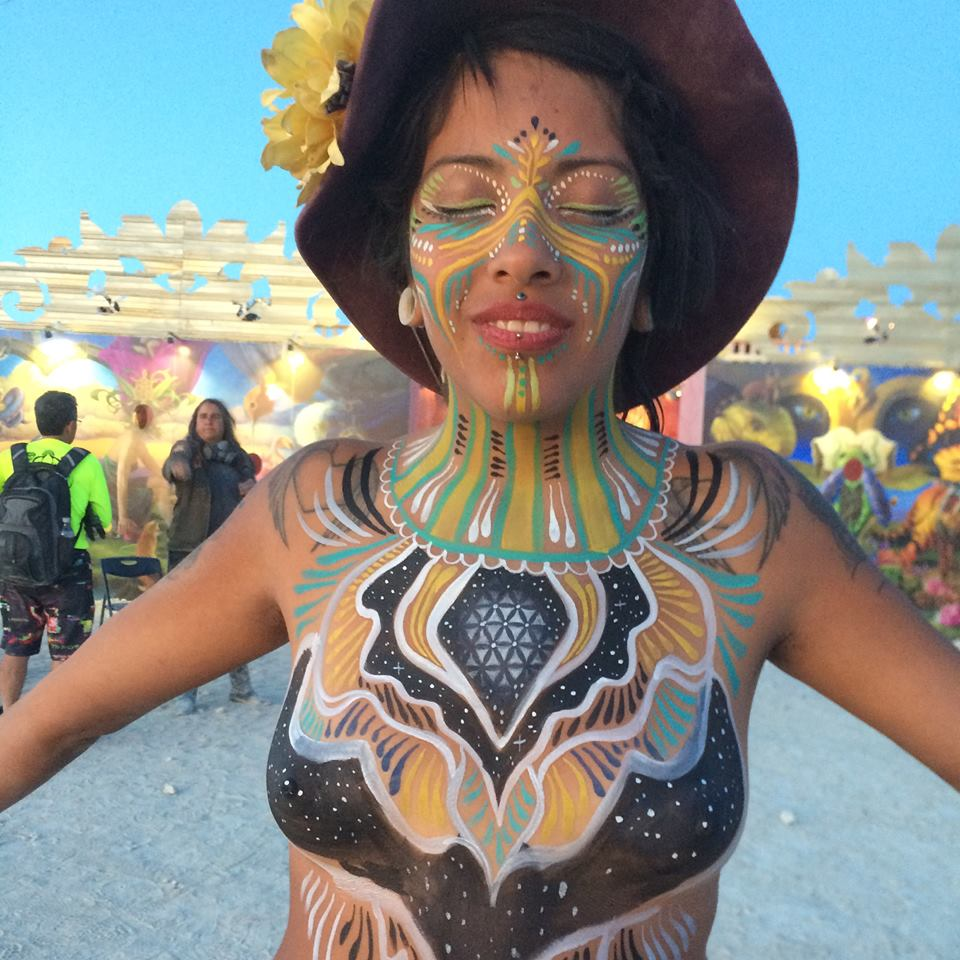 Won Burningman Body Painter of the Year